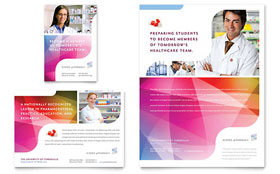 Pharmacy School - Flyer & Ad Template Design Sample