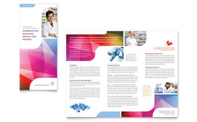 Pharmacy School - Adobe Illustrator Tri Fold Brochure Template