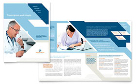 Medical Transcription - Apple iWork Pages Brochure Template