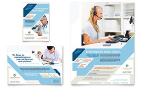 Medical Transcription - Flyer & Ad