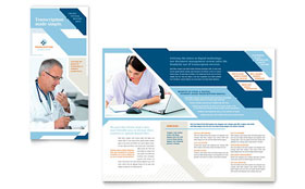 Medical Transcription - Microsoft Word Tri Fold Brochure Template