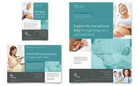 Pregnancy Clinic - Flyer & Ad Template Design Sample