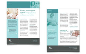 Pregnancy Clinic - Datasheet Template Design Sample