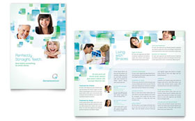 Orthodontist - Pamphlet Sample Template