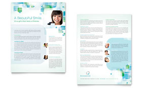 Orthodontist - Sales Sheet Template Design Sample