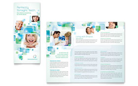 Orthodontist - Tri Fold Brochure Template Design Sample
