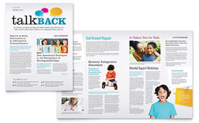 Speech Therapy - Newsletter Template Design Sample