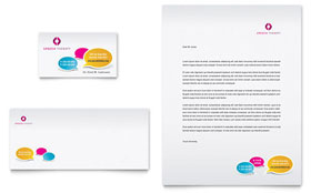 Speech Therapy - Business Card & Letterhead Template Design Sample