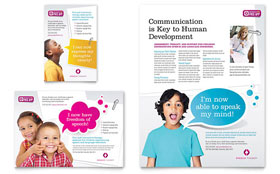 Speech Therapy - Flyer & Ad Template Design Sample