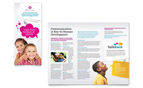 Speech Therapy Education - Adobe InDesign Tri Fold Brochure Template