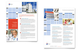 Hospital - Datasheet Template Design Sample