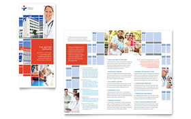 Hospital - Business Marketing Tri Fold Brochure Template