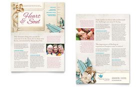 Hospice & Home Care - Newsletter Template Design Sample