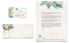 Hospice & Home Care - Business Card & Letterhead Template Design Sample