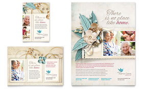 Hospice & Home Care - Flyer & Ad Template Design Sample