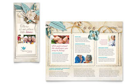 Hospice & Home Care - Adobe Illustrator Tri Fold Brochure Template