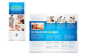 Reflexology & Massage - Tri Fold Brochure Template Design Sample