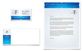 Reflexology & Massage - Business Card & Letterhead Template Design Sample