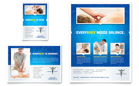Reflexology & Massage - Flyer & Ad Template Design Sample