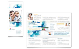 Behavioral Counseling - Adobe InDesign Tri Fold Brochure