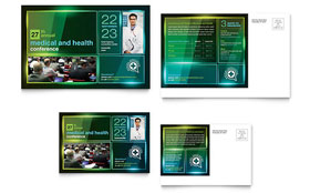 Medical Conference - Postcard Sample Template