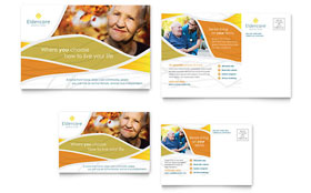 Assisted Living - Postcard Sample Template
