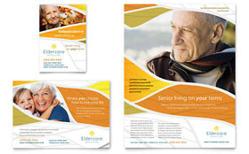 Assisted Living - Print Ad Sample Template