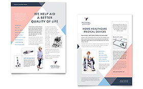 Home Medical Equipment - Sales Sheet Sample Template