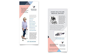 Home Medical Equipment - Rack Card Sample Template