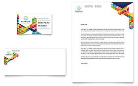 Health Fair - Business Card & Letterhead Template