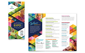 Health Fair - Tri Fold Brochure Template