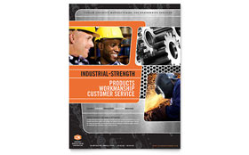 Manufacturing Engineering - Flyer Sample Template