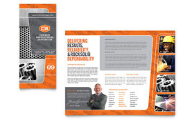 Manufacturing Engineering - Tri Fold Brochure Template Design Sample