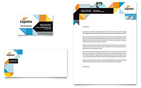 Logistics & Warehousing - Business Card & Letterhead Template