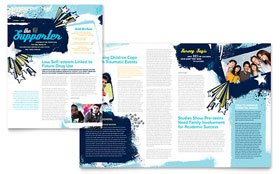Child Advocates - Newsletter Template Design Sample