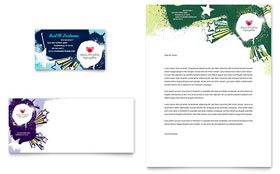 Child Advocates - Business Card & Letterhead Template Design Sample
