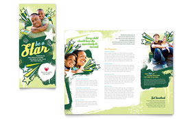 Child Advocates - Tri Fold Brochure Template Design Sample
