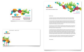 Youth Program - Business Card & Letterhead Template Design Sample