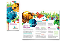 Youth Program - Apple iWork Pages Tri Fold Brochure Template