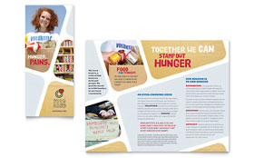 Food Bank Volunteer - Tri Fold Brochure Sample Template