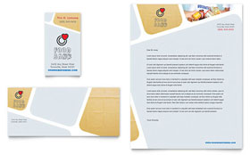 Food Bank Volunteer - Business Card & Letterhead Template