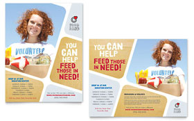 Food Bank Volunteer - Poster Template Design Sample