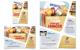 Food Bank Volunteer - Flyer & Ad Template Design Sample