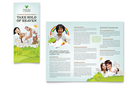 Foster Care & Adoption - Tri Fold Brochure Template Design Sample