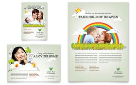 Foster Care & Adoption - Flyer Template Design Sample