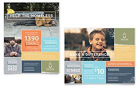 Homeless Shelter - Poster Sample Template