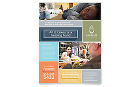 Homeless Shelter - Flyer Template