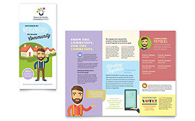 Homeowners Association - Tri Fold Brochure Template