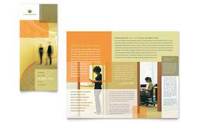 HR Consulting - Print Design Tri Fold Brochure Template