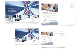 Marketing Consulting Group - Postcard Template Design Sample